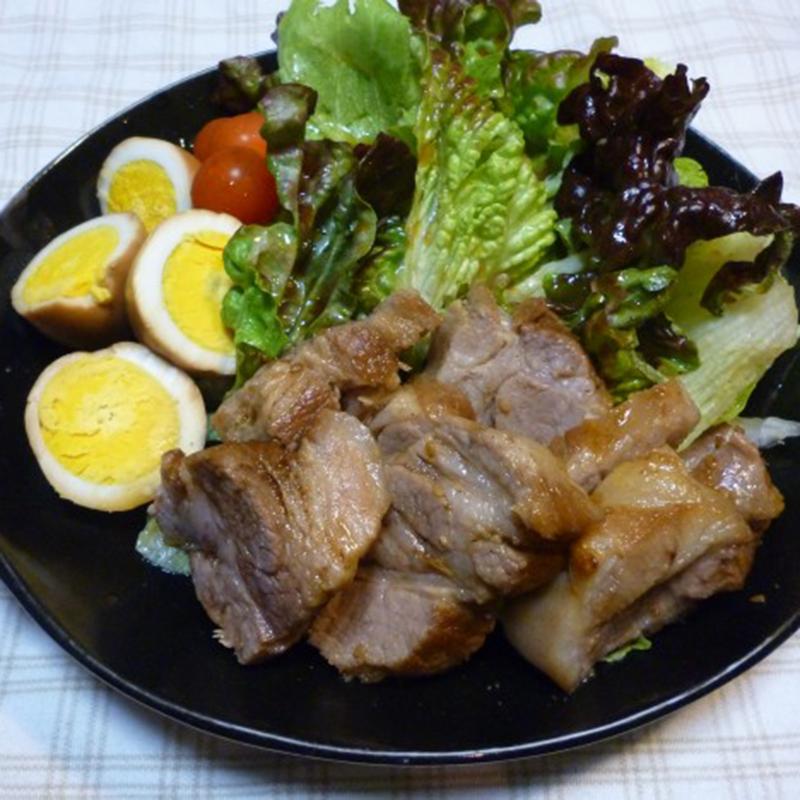 焼き肉のタレで簡単煮豚